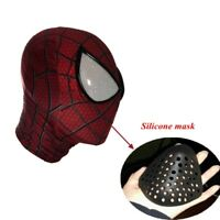US Spider-Man Mask Faceshell Silicone Cover Mouth Mask Isloation Hood Cos Props