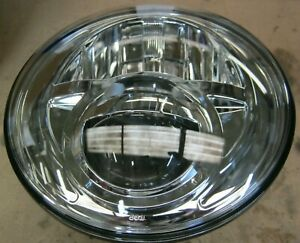 "(Left hand drive) Land Rover Defender 7"" Inch BI-LED Round Headlight  ""chrome"""