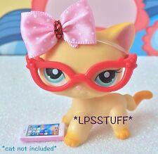 Littlest Pet Shop LPS Accessories Nerd Glasses Clothes Lot *CAT NOT INCLUDED*