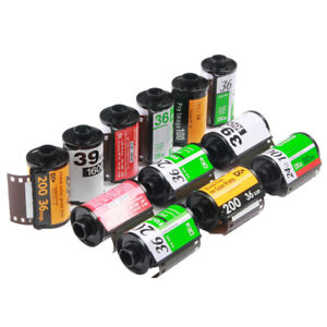 12x Assorted 135 35mm Relodable Empty Canisters Cassettes For Kodak Fuji Film