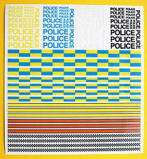 Slot Car Scalextric Calcomanías Pegatinas de policía ideal para los modelos de fundición código 3