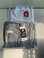 Chef Work Uniform Both Short Sleeves Coat And Pants Set.