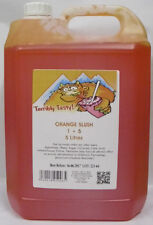 SLUSH SYRUP 4x5 LTR Orange Slush Incd 200 Spoon Straws