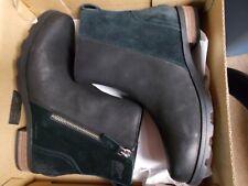 NIB Womens 9 Black Suede Leather Sorel Emelie Zip Bootie Waterproof New $150