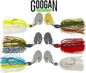 Googan Squad Clickbait Hybrid Vibrating Jig 4/0 3/8 oz. (Select Color)