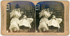 Stereo, The Great Western View Co., R. Y. Young, The New Woman Barber Vintage st