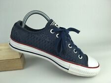 Converse Women Navy Blue White 551540F OX Lace Up Sneakers Shoe Sz 7 US 37.5 EUR