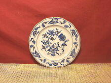 Vintage Maruta China Japan Blue Onion Design Gold Accent Bread/Dessert Plate