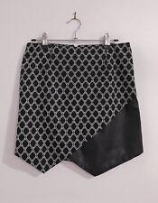 New womens black and white mini skirt size 10 Bardot