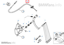 New BMW E46 316Ci M43 318i M43 Accelerator Cable 35411164597