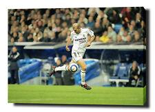 "ZINEDINE ZIDANE 30 ""x20"" ART en toile Imprimé Poster Photo Football Madrid"