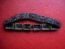 Antikes Armband Schmuck mit roten Steinen, dehnbar