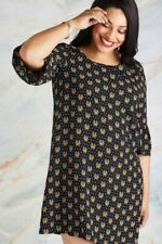 Black Plus Size Tiger And Spot Tunic