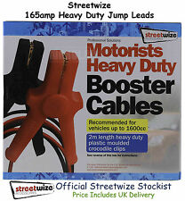 Streetwize Heavy Duty Booster Cables (Jump Leads) 165 Amp Engines up to 160cc