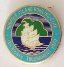 Norfolk Island 18th Bounty Bowling Tournament 1979 Club Badge Rare Vintage (M11)