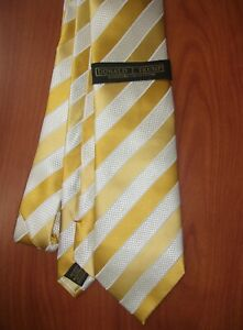 Donald Trump Collection Grenadine Bar Stripe Hand Made Woven Pure Silk Tie ~NWT~