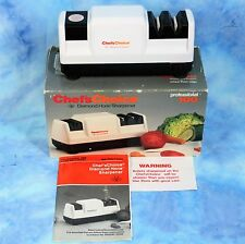 CHEF'S CHOICE Electric Knife Sharpener Diamond Hone Tested Great USA Box Manual