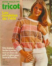 Votre magazine tricot  - Modèles de l'été vintage des années 80 - Famille
