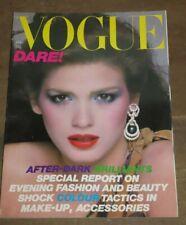 1979 VOGUE MAGAZINE APRIL NO 5 BEAUTY FASHION HAIR PATCHWORK SEQUINS CHIFFON  *