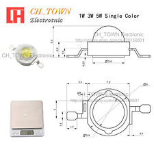 10PCS 1W High Power White Royal Blue Orange RGB  LED Chip Light 20mm Star PCB