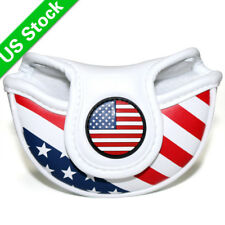 New listing Usa Flag Mid Mallet Halfmallet Putter Cover Golf Headcover For Scotty Cameron