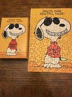 "Vintage 1971 SPRINGBOK PUZZLE SNOOPY ""BRACES MAKE BEAUTIFUL FACES!"" 100 pieces"