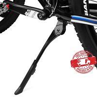 "BV Bike Adjustable Center Kickstand Aluminum Bicycle Black 24""-29"" NEW KA76-BK"