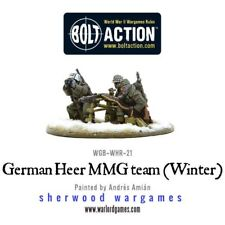 28mm Warlord German Heer MMGun Team Winter Dress, BNIB, WWII Bolt Action,