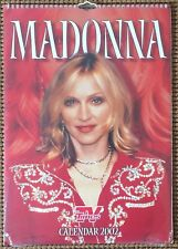 Madonna   Calendar 2002  New,Sealed