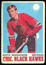 1970 71 OPC O PEE CHEE 151 KEITH MAGNUSON ROOKIE LGVG CHICAGO BLACK HAWKS HOCKEY