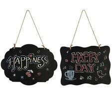 Chalkboard Sign Double-Sided Message Board with Hanging String - 2 pcs T3W1