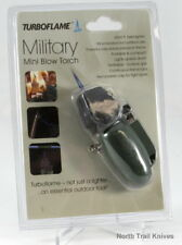Turboflame Lighter, Military Mini Blow Torch, Olive, Camp, Hike, Survival, EDC