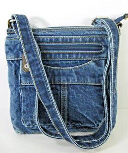 Denim Purse Crossbody Blue Jean Shoulder Bag New w/o tags unbranded