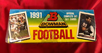 1991 BOWMAN FOOTBALL FACTORY SEALED SET (561) Emmitt, Bo, Sanders, Marino, Rice