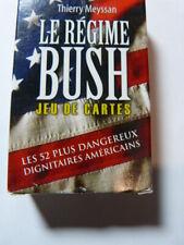 jeu de cartes le gégime BUSH ,52 dangereux dignitaires américains (cp10)