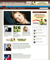 ENDING DEPRESSION BLOG / AFFILIATE STORE & WEBSITE WITH NEW DOMAIN AND HOSTING