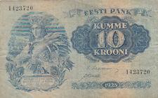 Billet banque ESTONIE ESTONIA EESTI 10 krooni 1937 état voir scan 720