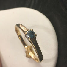 IV Harry Ivens Diamantring 0,19 ct blauer Diamant Goldring 585er Gold Ring Gr.66