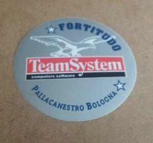 ADESIVO STICKERS FORTITUDO BOLOGNA BASKET PALLACANESTRO TEAMSYSTEM