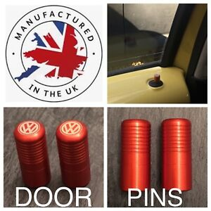 VW T5 T6 Orange Door Lock Pull Pins Precision UK Machined And Laser Engraved