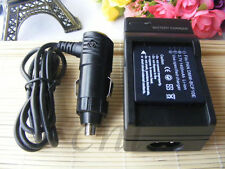 Battery+Charger For Panasonic DMW-BCF10E CGA-S009 Lumix DMC-FT1 FT2 FT2A FT2D