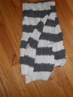 "UGG Australia Large Cable Stitch Scarf 80"",Grey Stripe"