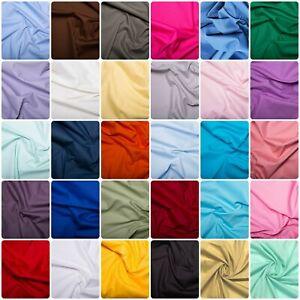 "45"" 100% Cotton Poplin Plain Dyed Fabric OEKOTEX Certified Craft Dress Face Mask"