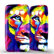 Housse Coque Etui Samsung Galaxy Core 4G Lion coloré silicone gel