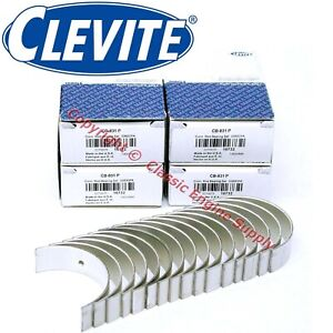 """New Clevite .010"""" Under Size Rod Bearing Set Ford 351W 5.8L Windsor CB831P10"""