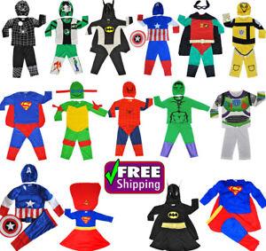 NEW SIZE 1-12 KIDS COSTUMES GIRLS DRESS UP PARTY SUPERHERO DISNEY TODDLER CHILD