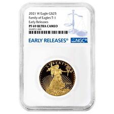 Prueba de 2021-W $25 American Eagle 1/2 OZ NGC PF69UC Gold Azul Etiqueta er