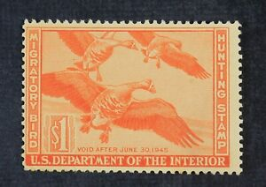CKStamps: US Federal Duck Stamps Collection Scott#RW11 $1 Unused NG
