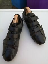 CESARE PACIOTTI Mens Leather and Canvas , Black Sneaker Trainers UK 7 (41).