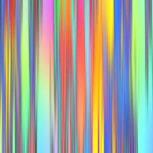 "Square ""Rainbow Lines"" Glass Worktop Saver - 40 x 40cm Glass Chopping Board"